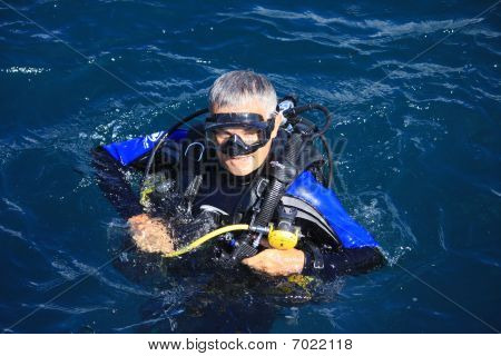 Scuba Diver loving the water