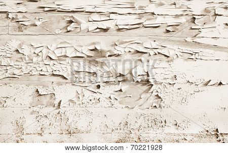 Shabby Chic Style Or Vintage Background Of White Wood.