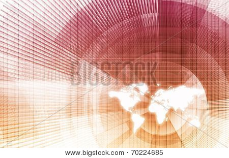 International Trade and Globalized Economies with Map