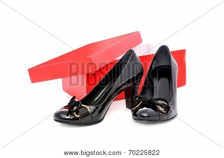 Black Shoes And Red Box
