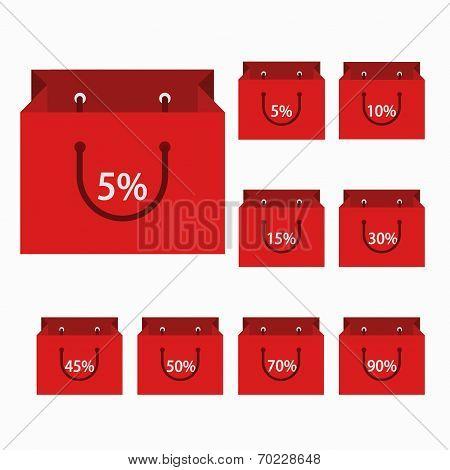 vector modern shopping icons set