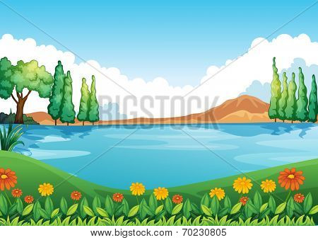 Illustration of a beautiful pic of nature