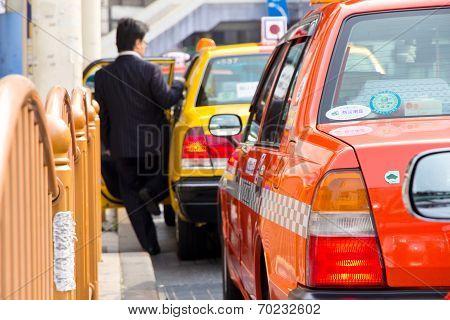 Taxi in Tokyo japan