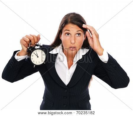 Stress - Business Woman Is Late