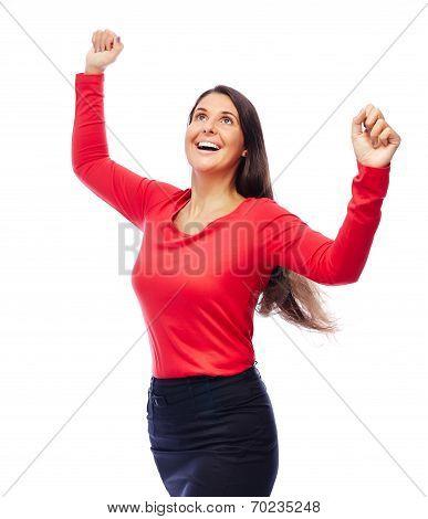 Successful Winner Business Woman