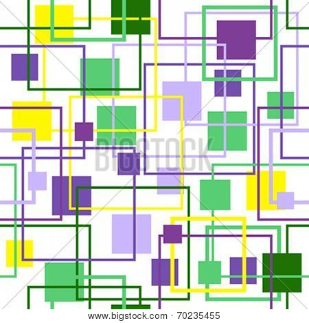 Abstract Retro Geometric seamless pattern with squares. Vector Illustration