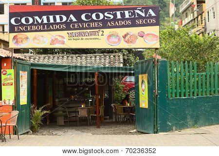 Tarinacuy Restaurant in Banos, Ecuador