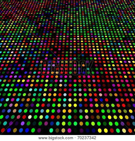 Disco varicolored circles mosaic vibrant background.