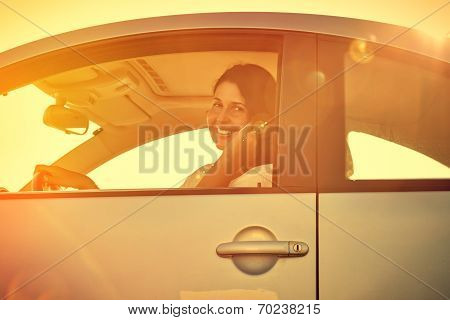 Driver Woman On The Phone