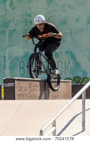 Bruno Silva During The Dvs Bmx Series 2014 By Fuel Tv