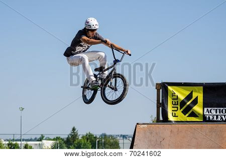 Fabio Leao During The Dvs Bmx Series 2014 By Fuel Tv