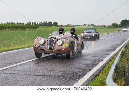 Jaguar Xk 120 Ots (1950) In Rally Mille Miglia 2013