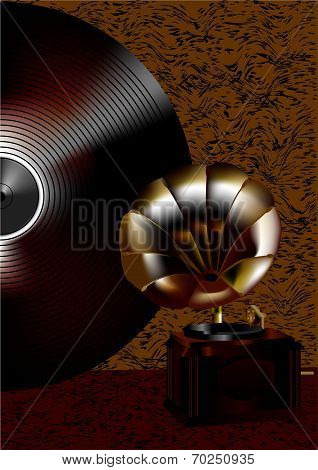 Gramophone And Disk