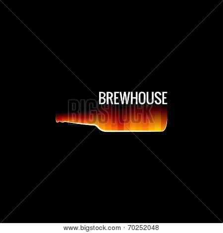 beer glass fire design background