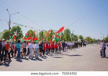 Celebration Of Victory Day. Gomel, Belarus - May 9: Celebration Of Victory Day On May 9, 2013 In Gom