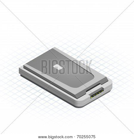 Isometric Scanner Vector Illustration