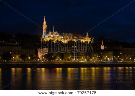 Night view of Fisherman's Bastion Budapest