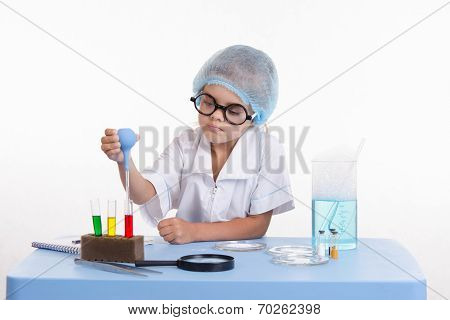 Trainee In Chemistry Class