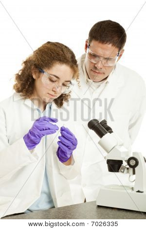 Biology Student And Teacher