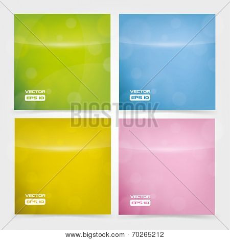 Blurred lights vector background set - different color variations