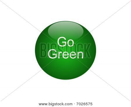 Go Green Round Button