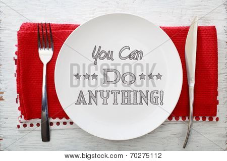 You Can Do Anything Inspirational Meal
