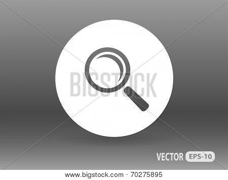 Flat icon of loupe