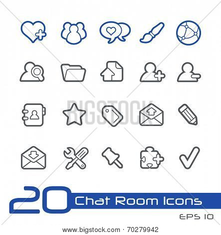 Chat Room Icons // Line Series