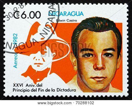 Postage Stamp Nicaragua 1982 Edwin Castro Rodriguez, Poet