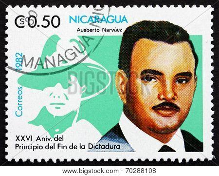 Postage Stamp Nicaragua 1982 Ausberto Narvaez, Hero