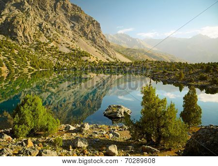 Lake in Fann mountains, Tajikistan