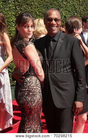 LOS ANGELES - AUG 16:  Nora Chavooshian, Claire Grant at the 2014 Creative Emmy Awards - Arrivals at Nokia Theater on August 16, 2014 in Los Angeles, CA