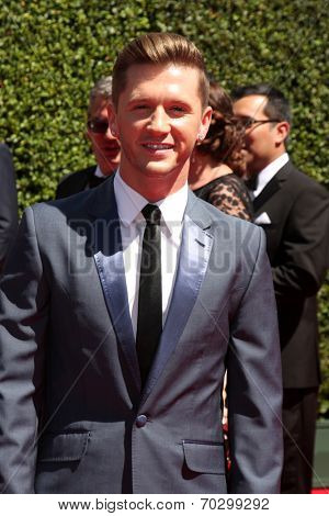 LOS ANGELES - AUG 16:  Travis Wall at the 2014 Creative Emmy Awards - Arrivals at Nokia Theater on August 16, 2014 in Los Angeles, CA