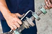 pic of pipe wrench  - pipe - JPG