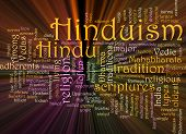 image of mahabharata  - Word cloud concept illustration of Hinduism religion glowing light effect - JPG