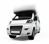 stock photo of camper-van  - Camper Van isolated on white background - JPG