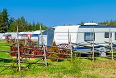 picture of trailer park  - Modern luxury mobile homes in a caravan park - JPG