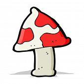 stock photo of toadstools  - cartoon toadstool - JPG