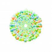 foto of nano  - Vector nano texture color web abstract line circle - JPG