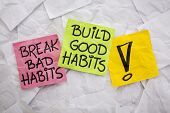 stock photo of  habits  - break bad habits - JPG