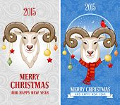 picture of goat horns  - Christmas greeting cards with goat - JPG