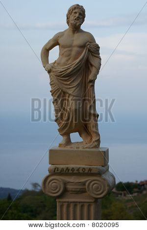 Small ancient Greek replicate staue