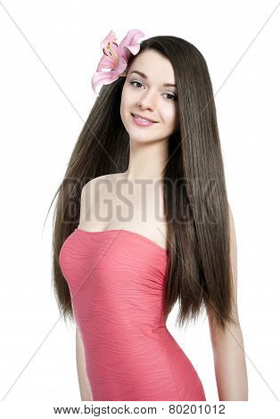 Young Beautiful Woman With Healty Hair