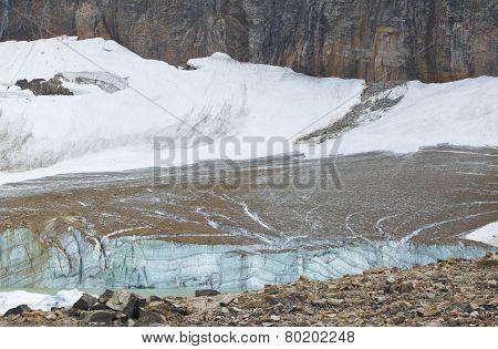 Canadian Landscape With Mount Edith Cavell Glacier Jasper. Alberta. Canada