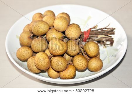Longan On The Plate