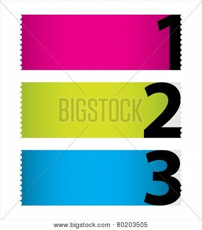 Special Colored Stickers Set With Numbers