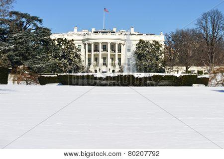 White House in Winter - Washington DC, USA