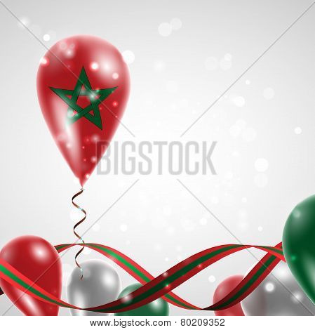 Flag of Morocco on balloon
