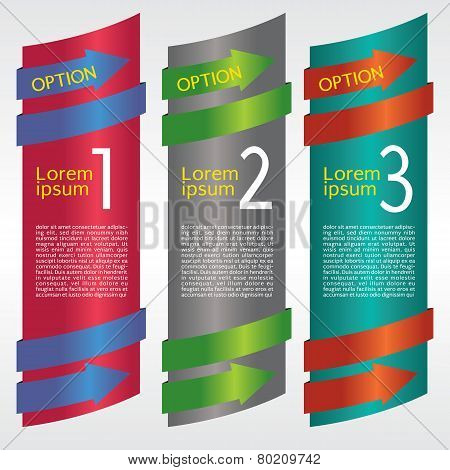 Vertical banner vector with number.