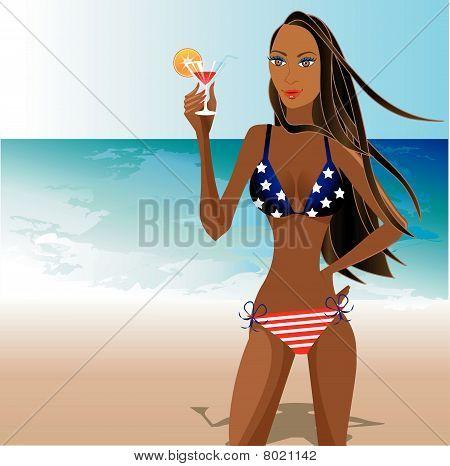 Patriotic Woman 1